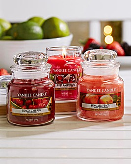 Yankee Set of 3 Fruit Small Jars