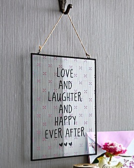 Glass Happy Ever After Plaque