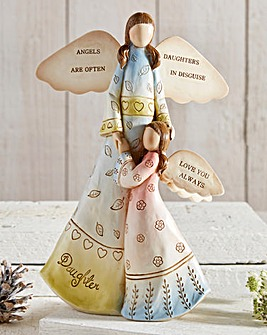 Mother and Daughter Angel Ornament