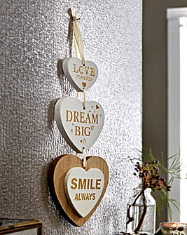 Dream Big Wooden Hanging Hearts