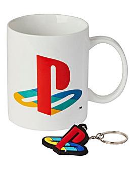 Playstation Mug and Keyring