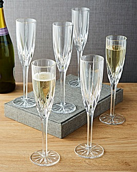 Royal Doulton Flame 6 Champagne Flutes