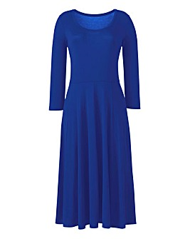 Cobalt Jersey Midi Dress - L45