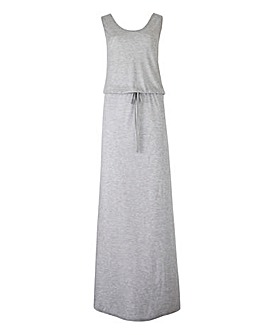 Grey Marl Jersey Holiday Maxi Dress