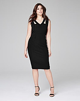 Black Magisculpt Cut-Out Dress