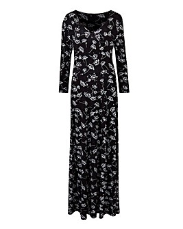 Black/Ivory Jersey Maxi Dress - L 52