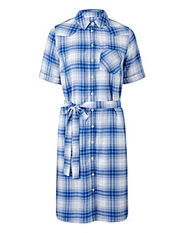 Blue/ Ivory Check Short Sleeve Shirt Dre