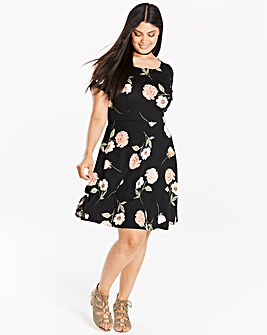 Jacquard Skater Dress