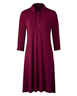 Jersey Swing Shirt Dress