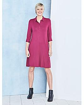 Jersey Swing Shirt Dress