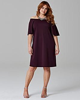 Bardot Frill Dress
