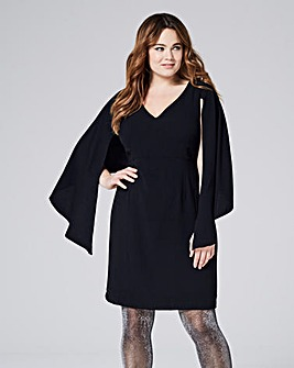 Cape Shift Dress