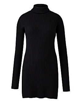 Black Roll Neck Tunic