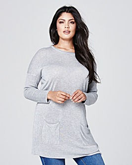 Grey Marl Tunic with Pockets