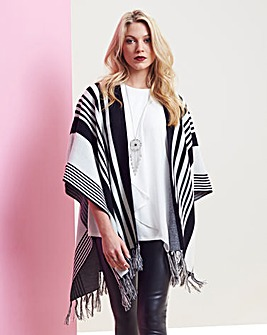 Blanket Knit with Fringing