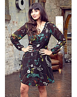 Jameela Jamil Floral Print Dress