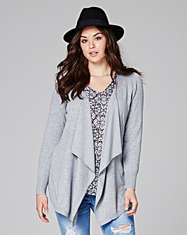Grey Marl Waterfall Cardigan
