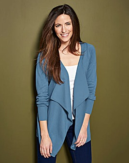 Smoke Blue Waterfall Cardigan