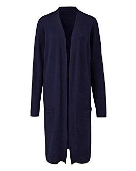 Navy Edge-to-Edge Cardigan