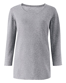Grey Marl Crew Neck Jumper