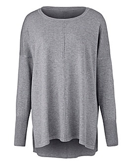 Grey Marl Boxy Jumper