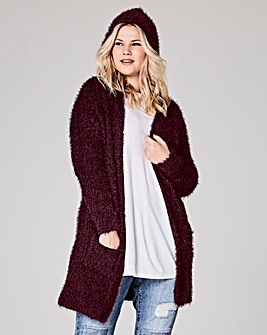 Black Cherry Popcorn Cardigan