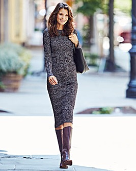 Twist Yarn Ribbed Dress