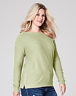 Pistachio Jumper with side zips
