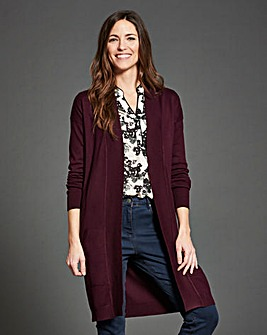 Black Cherry Kangaroo Pocket Cardigan