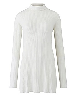 Ivory Roll Neck Tunic