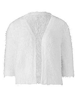 Ivory Fluffy Edge to Edge Shrug