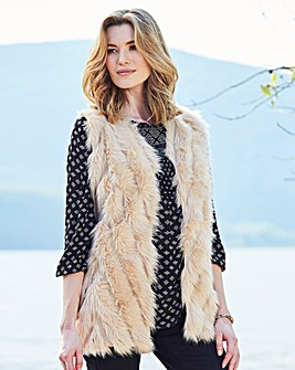 Knitted Faux Fur Gilet