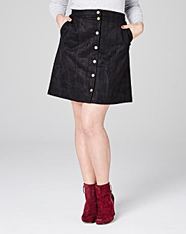 Lovedrobe Suedette Button Down Skirt