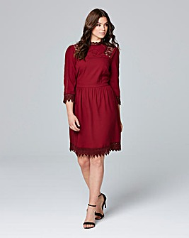 Lovedrobe High Neck Detail Skater Dress