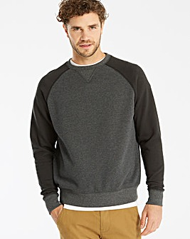 Jacamo Raglan Sleeve Sweatshirt Long