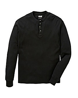 Jacamo Long Sleeve Henley Top Long