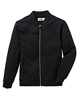 Jacamo Quilt Effect Bomber Sweat Regular