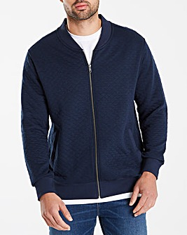 Jacamo Quilt Effect Bomber Sweat Long