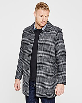 Flintoff By Jacamo Checked Wool Coat