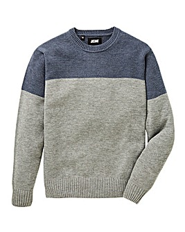 Jacamo Contrast Yoke Jumper Long