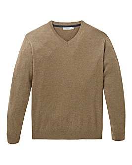 WILLIAMS & BROWN Wool Mix V Neck Jumper