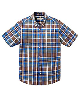 WILLIAMS & BROWN Check Seersucker Shirt