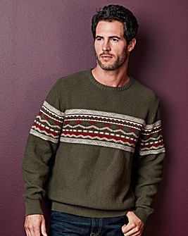 WILLIAMS & BROWN Crew Neck Design Jumper