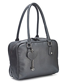 Bowler Bag With Zip Detail