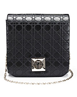 Black Mini Structured Shoulder Bag
