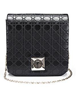 Black Mini Structured Shoulder Bag