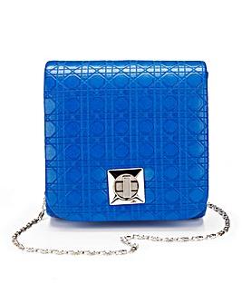 Cobalt Mini Structured Shoulder Bag