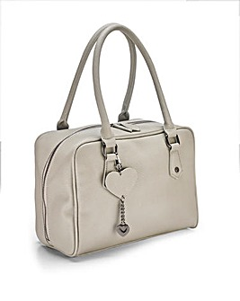 Lola Grey Bowler Bag