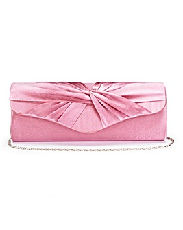 Pink Satin Roll Top Occasion Bag