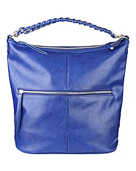 Navy Slouch Hobo Shoulder Bag